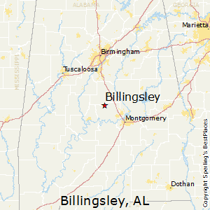 Billingsley,Alabama Map