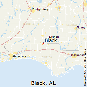 Black,Alabama Map
