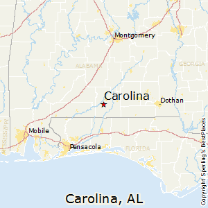 Carolina,Alabama Map
