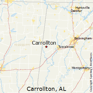 Carrollton,Alabama Map