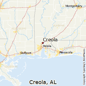 Creola,Alabama Map