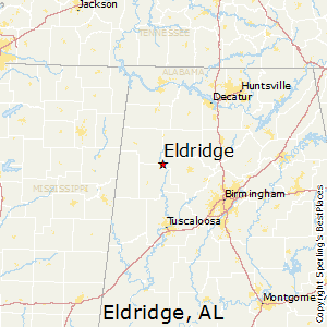 Eldridge,Alabama Map