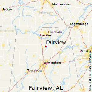 Fairview,Alabama Map