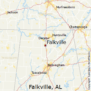 Falkville,Alabama Map