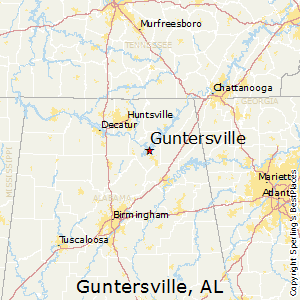 Guntersville,Alabama Map
