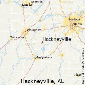 Hackneyville,Alabama Map
