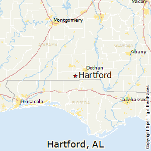 Hartford,Alabama Map