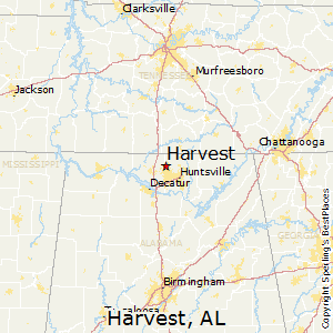 Harvest,Alabama Map