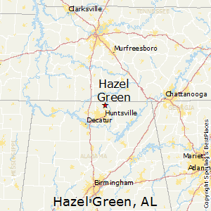 Hazel_Green,Alabama Map