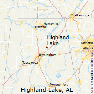 Highland_Lake,Alabama Map
