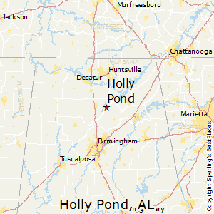 Holly_Pond,Alabama Map