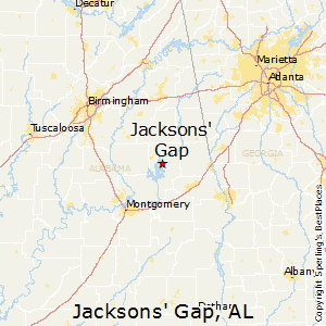 Jacksons'_Gap,Alabama Map