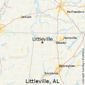 Littleville,Alabama Map