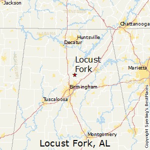 Locust_Fork,Alabama Map