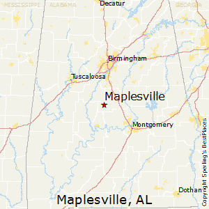 Maplesville,Alabama Map
