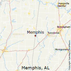 Memphis,Alabama Map