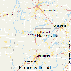 Mooresville,Alabama Map