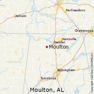 Moulton,Alabama Map
