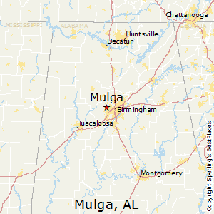 Mulga,Alabama Map