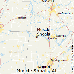 Muscle Shoals Alabama Map Best Places to Live in Muscle Shoals, Alabama