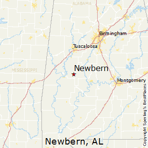 Newbern,Alabama Map
