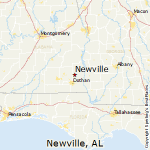 Newville,Alabama Map