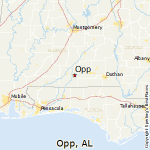 Opp,Alabama Map