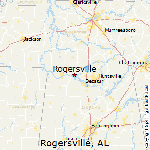 Rogersville,Alabama Map