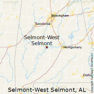 Selmont-West_Selmont,Alabama Map