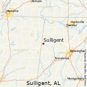 Sulligent,Alabama Map
