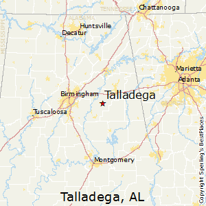 Talladega,Alabama Map