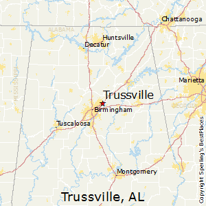 Trussville,Alabama Map
