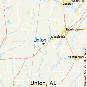 Union,Alabama Map