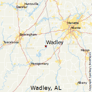 Wadley,Alabama Map