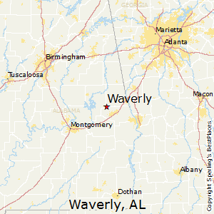 Waverly,Alabama Map