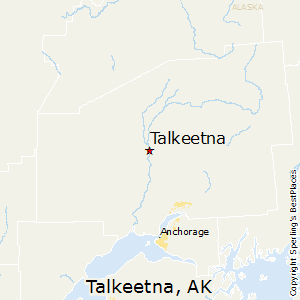 Talkeetna,Alaska Map