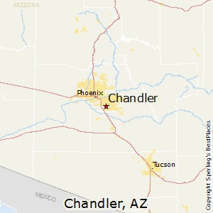 Chandler,Arizona Map