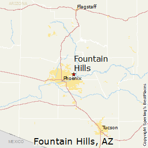 Fountain_Hills,Arizona Map