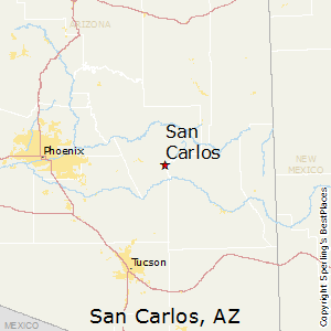 San_Carlos,Arizona Map