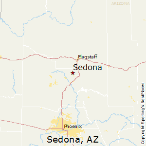 Sedona,Arizona Map