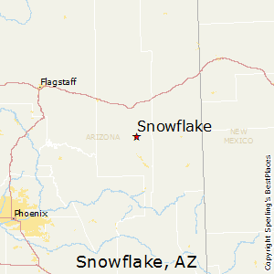 Snowflake,Arizona Map
