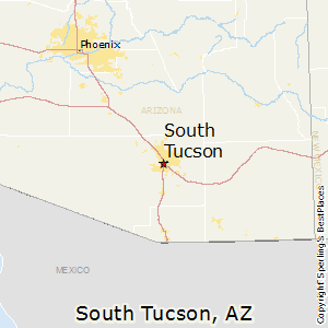 South_Tucson,Arizona Map