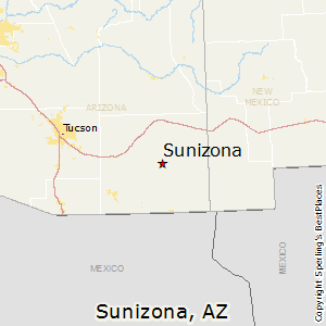 Sunizona,Arizona Map