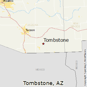 Tombstone,Arizona Map