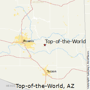 Top-of-the-World,Arizona Map