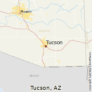 Tucson,Arizona Map