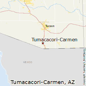 Tumacacori-Carmen,Arizona Map
