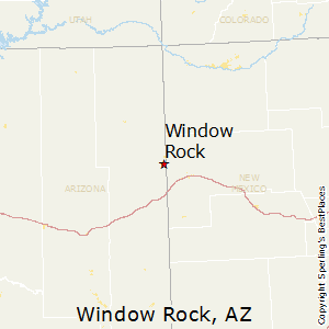 Window_Rock,Arizona Map