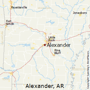 Alexander,Arkansas Map