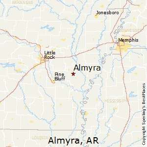 Almyra,Arkansas Map